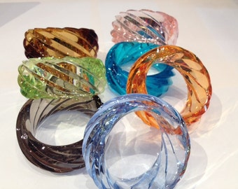 Giant Plexiglass Bangles from the 80s!
