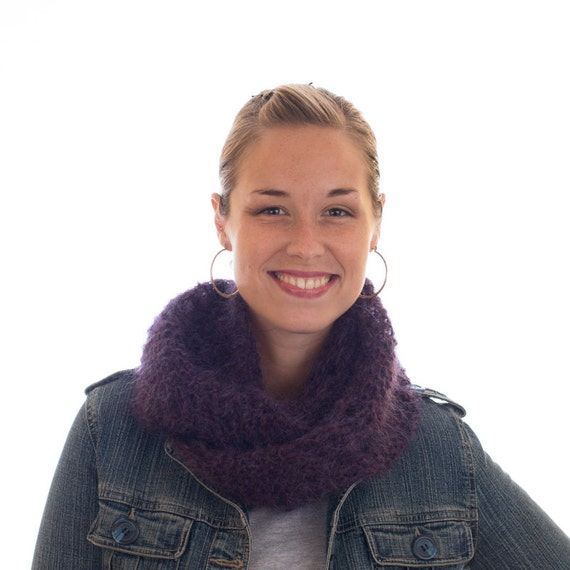 Infinity Scarf Knitting Pattern Mohair : Mohair Infinity Scarf Lace Infinity Scarf Fluffy by ...