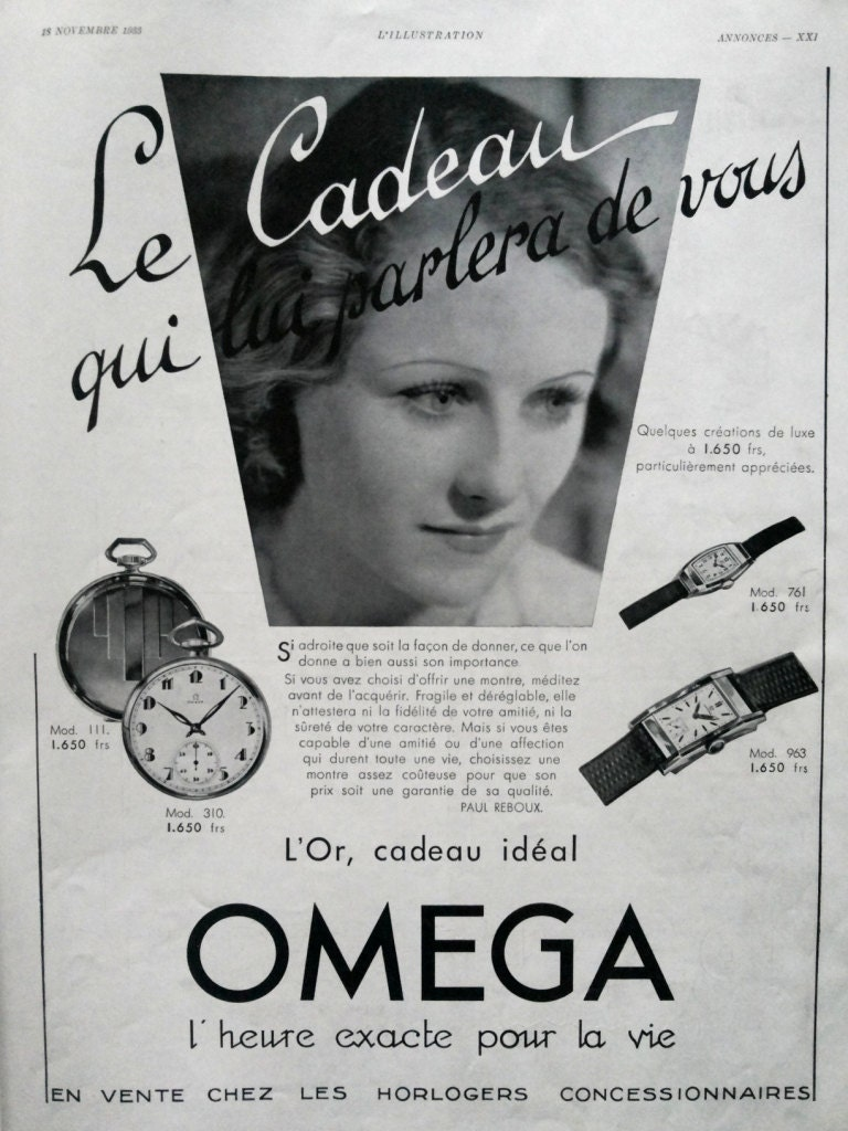 OMEGA watches advertising vintage poster retro by OldMag ...