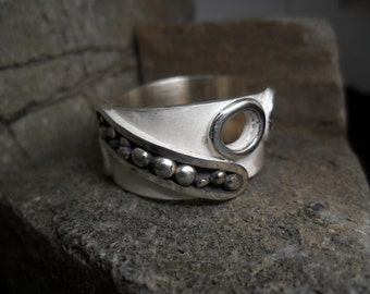 Wide rush for man in sterling silver