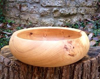 Wooden Bowl - Hand Turned Pecan Wood  Bowl / Serving Bowl / Salad Bowl