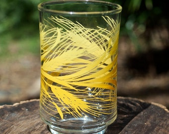 Vintage Libbey Golden Wheat 6-8oz juice glass.