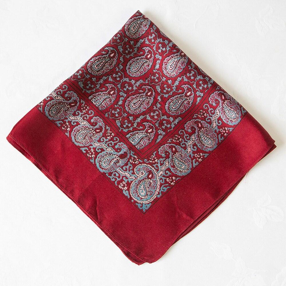 vintage mens paisley silk scarf