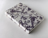 Purple Pheasants Hand Bound Coptic Blank Travel Journal / Birdwatcher's Log / Sketchbook / Diary
