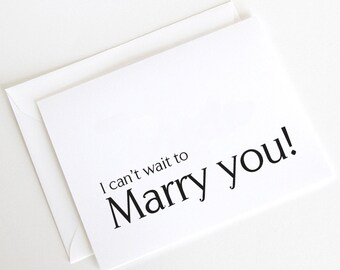 I Can't Wait to Marry You, Wedding Card to Husband, Wedding Day Card (WD103-PR)