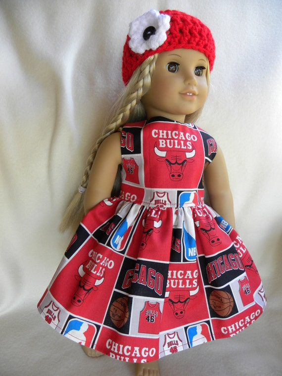 Chicago bulls custom made doll clothes for american girl doll for Custom tailored shirts chicago