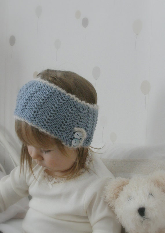 KNITTING PATTERN headband/ headwrap with buttons and by ...