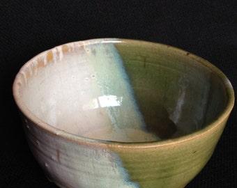 celadon green and white bowl