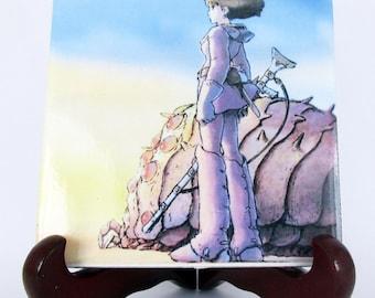 Studio Ghibli Nausicaä of the Valley of the Wind Ceramic Tile - Handmade from Italy - High Quality Nausicaa Miyazaki Anime Manga Japan Mod.1