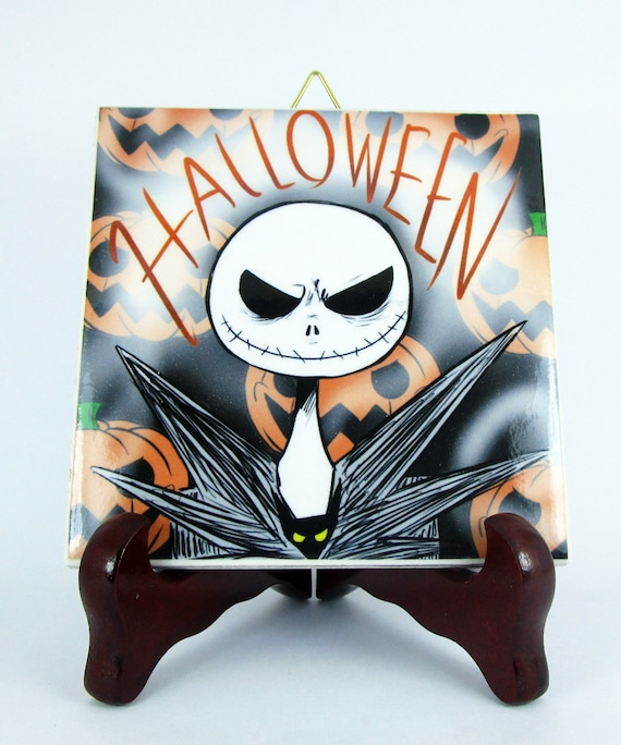 the nightmare before christmas wall decor ceramic tile. Black Bedroom Furniture Sets. Home Design Ideas