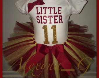 Little Sister Sports Tutu Set