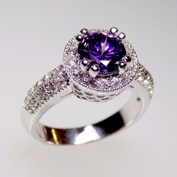 Dark Purple Halo Engagement Ring Cz Ring Halo Ring Cz. Fantastic Engagement Rings. 2.9 Carat Engagement Rings. Rock Engagement Rings. Houston Texans Rings. Demand Engagement Rings. Royal Engagement Rings. Mountain Range Wedding Rings. Color Gemstone Engagement Rings