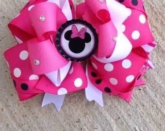 Minnie mouse hair bow, minnie mouse baby hair bow.