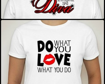 Do What you LOVE what you do BeautiControl inspired Spa Lips t-shirt S-5XL