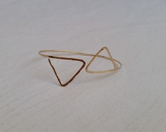 Geometric Cuff, Geometric Jewelry, Gold Geometric Bracelets, Triangle Gold Cuff Bracelet, Rose Gold Triangle Bracelet, Triangle Bracelets