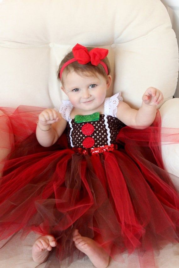 Items Similar To Beautiful Baby Gingerbread Man Girl Tutu