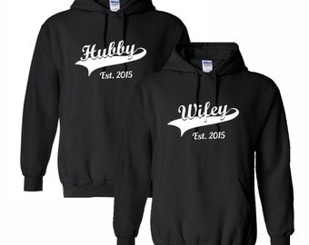 couples hoodies wifey hubby sweatshirt mens womens husband wife wedding bride groom gift ideas anniversary honeymoon