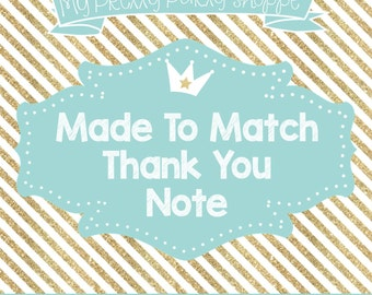 Made To Match: Thank You Note