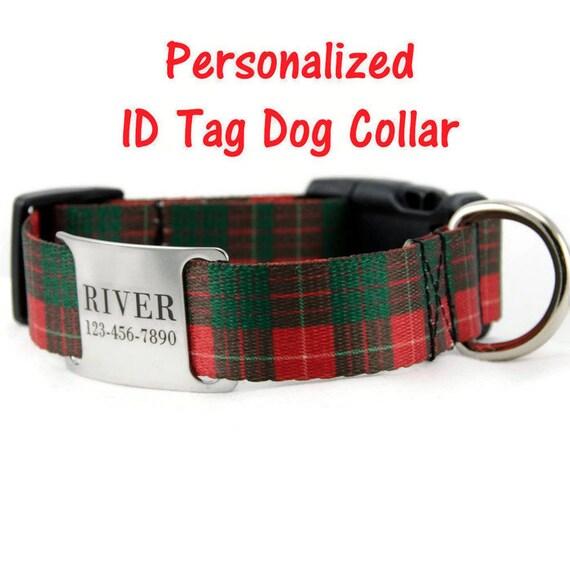 Adjustable Dog Collar With Nameplate