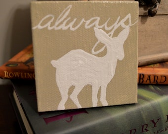 "Snape Loves Lily ""Always"" Original Mini Painting by Annie Minicuci"