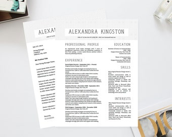 items similar to modern chart microsoft word resume and
