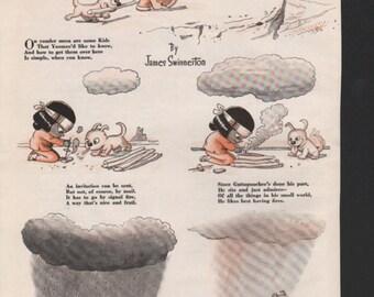 """Original Good Housekeeping cartoon """"Yoomee"""" by James Swinnerton 1930s, 8x11 in. - Kids235"""