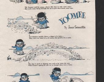 """Original Good Housekeeping cartoon """"Yoomee"""" by James Swinnerton 1930s, 8x11 in. - Kids214"""
