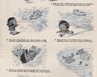 """Original Good Housekeeping cartoon """"Yoomee"""" by James Swinnerton 1930s, 8x11 in. - Kids 713"""