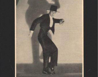 "Photograph from ""The Dance of Life"", 1930s, Flamenco, matted in black  - 000145M"