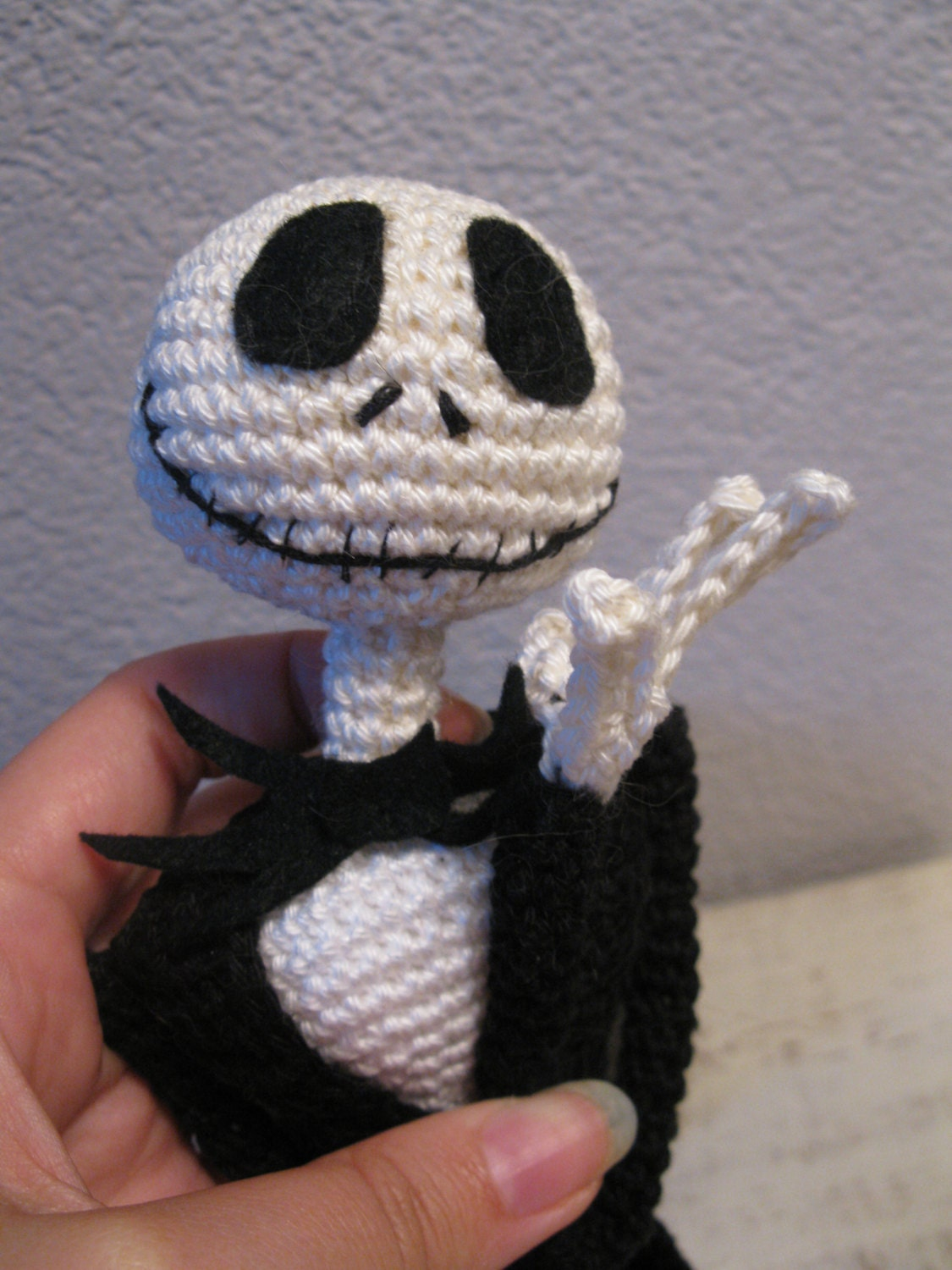 Amigurumi Jack Skellington Pattern : Jack Skellington crochet pattern 16 inch, ready for ...