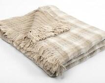 Luxurious Linen Blanket - Duplex Linen blanket - Bedspread - Picnic blanket - Beach blanket - Throw blanket - Natural blanket