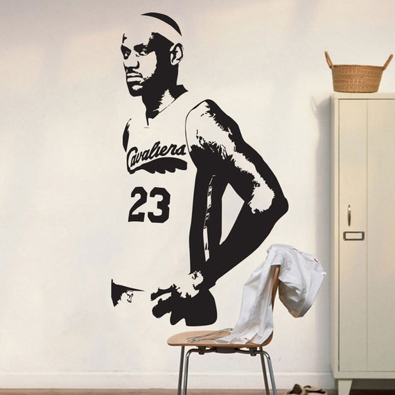 Basket ball cavs lebron james wall decal art par for Interieur sport lebron james