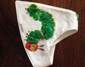 Very Hungry Caterpillar Dribble Bandana Bib. Gorgeous bandana bib to complete outfit. Soft cotton bib with snaps/velcro.