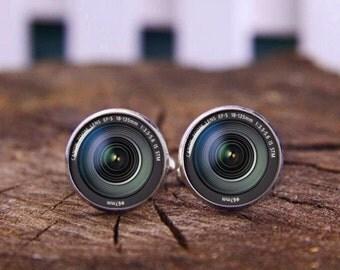 DSLR Lenses Cuff Links, Camera Lens Cufflinks, Camera Lens Tie Clip, Camera Cufflink, Lens Tie Clip, Photography Cufflinks, Camera Lens Gift