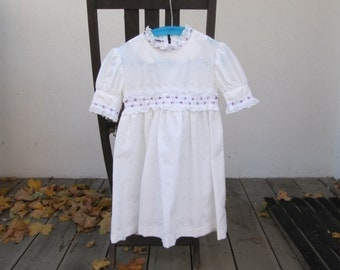 White eyelet communion dress, handmade