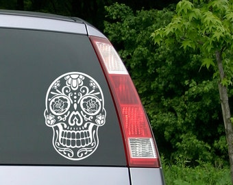 Sugar Skull Sticker, Sugar Skull Decal, Laptop Decal, Sugarskull, Sugar Skull, Day of the Dead, Dia de los muertos, Disney, Yeti Decal, Rose