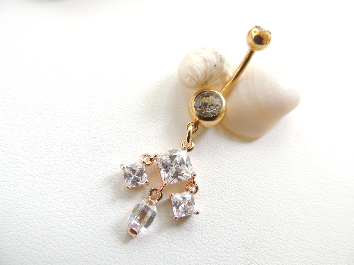 Gold Belly Button Ring Gypsy Belly Button Ring Gemstone