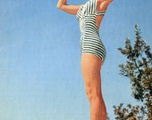 Debbie Reynolds  Soldier Magazine  - 1955   Debbie Reynolds in Swimsuit on Back Cover