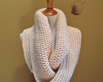One of a kind. Handmade Crochet Infinity Scarf, Cozy Neck Warmer. Earth Tones