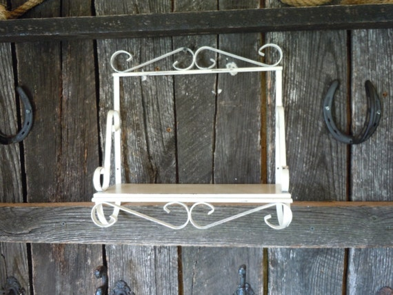 245 Wrought Iron Shelf Wall Decor Shabby Chic Heirloom