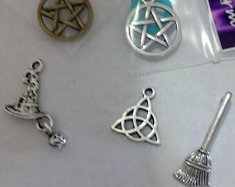Vape Halloween Vapor Pen Charms-Your choice of (Pentagrams,Broom,Celtic Knot & Witch Hat) 4 vape pen, tank, or e cigs