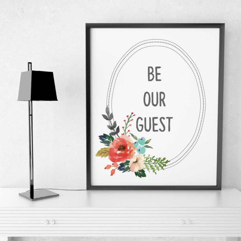 Clean image inside be our guest printable
