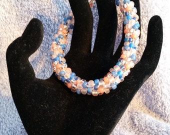 Larger Size Kumihimo Beaded Bracelet