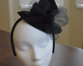 Witch Hat Fascinator, Witch Hat, Halloween Hat, Fits Adults or Children