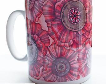 Beautiful Poppies Porcelain Mug
