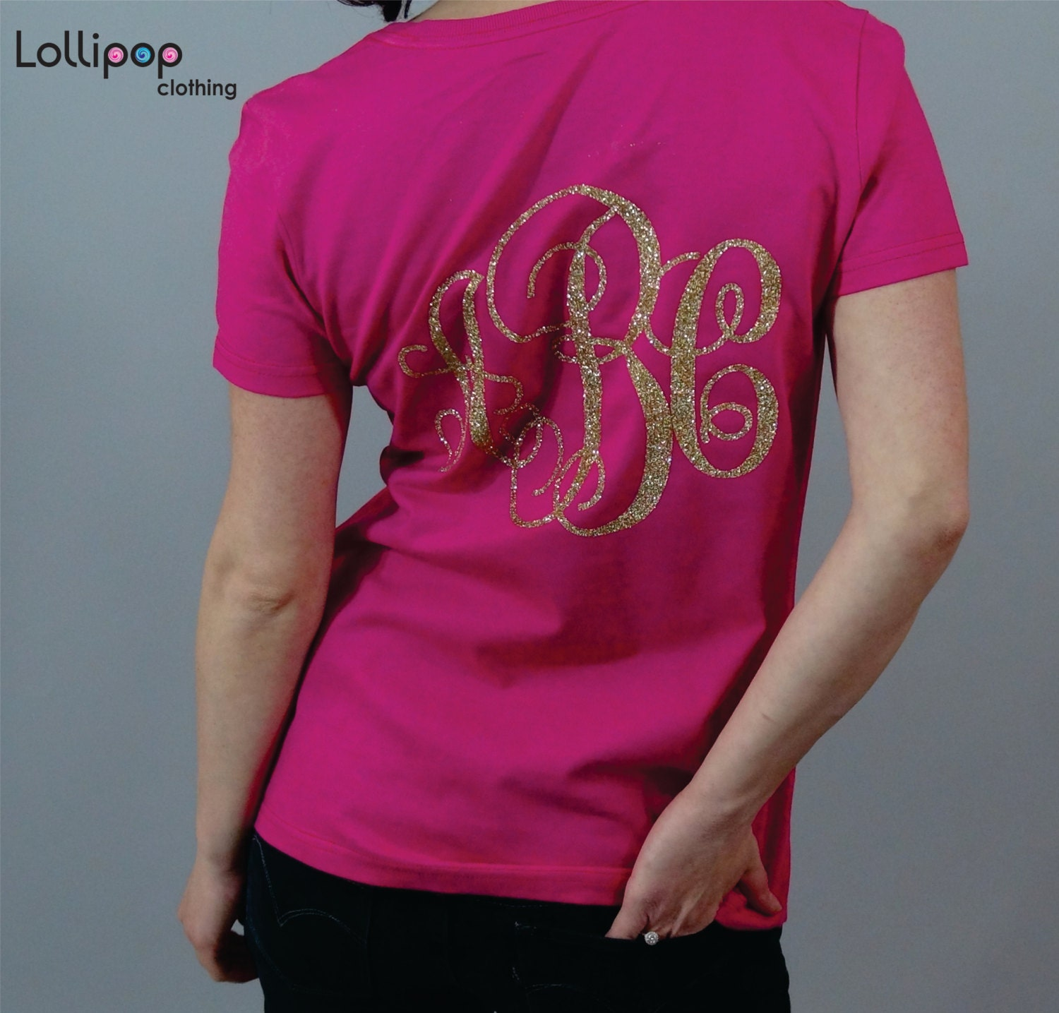 Glitter Womens Monogram Shirt Plus Size Monogrammed Shirts For