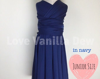 Junior Bridesmaid Dress Infinity Dress  Navy Blue Convertible Dress Multiway Wrap Dress