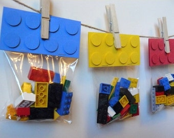 Lego party favor | Etsy