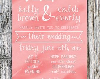 Backyard Wedding Invitation Etsy