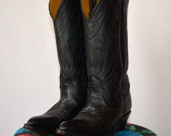 70's Black Cowboy Boots